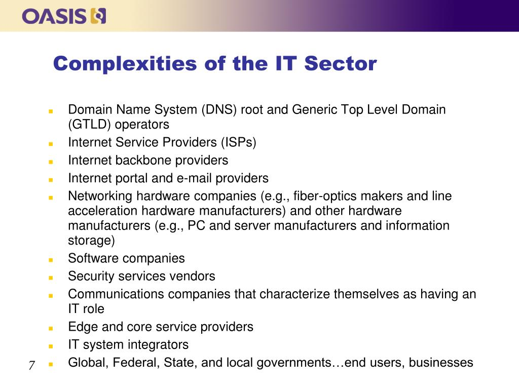 Complexities of the IT Sector