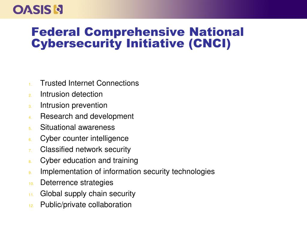 Federal Comprehensive National Cybersecurity Initiative (CNCI)