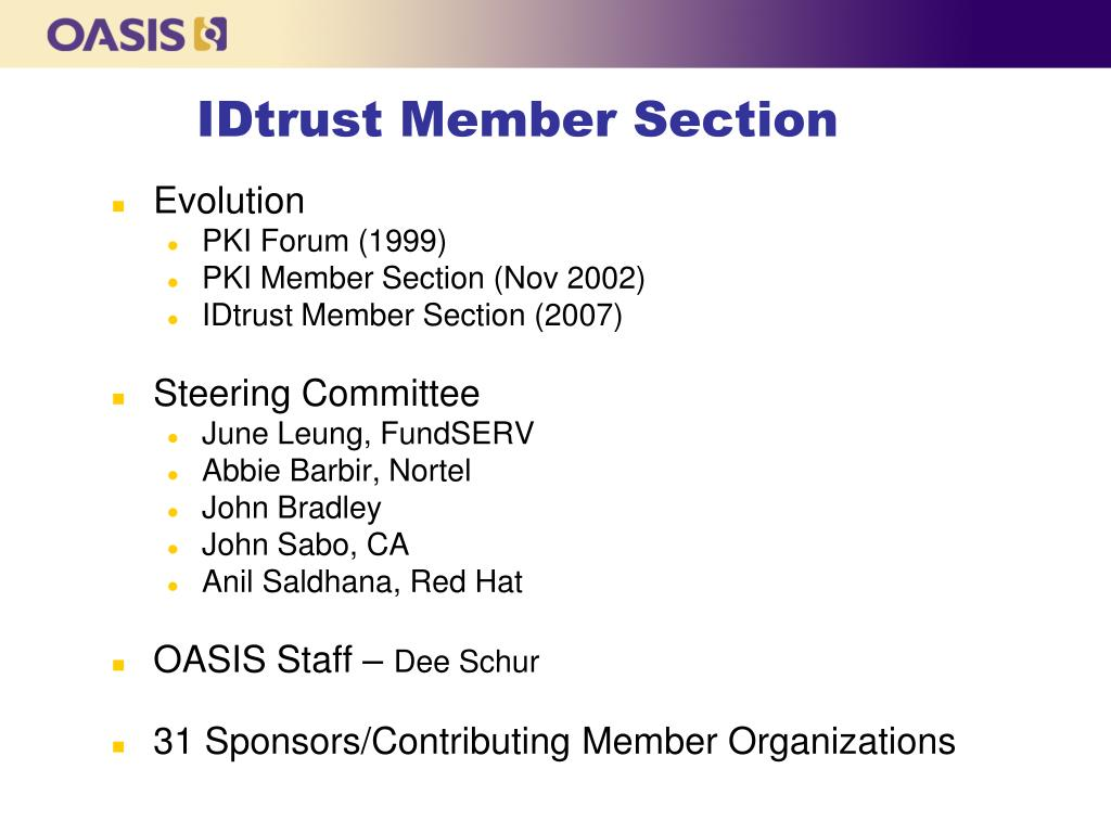 IDtrust Member Section