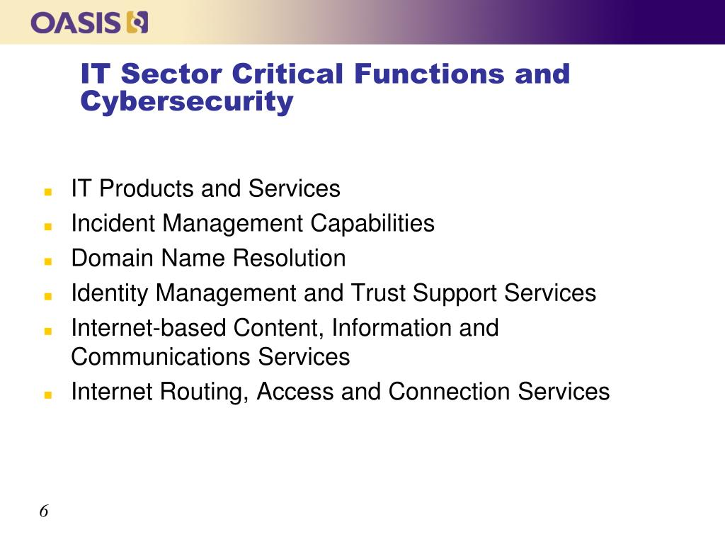 IT Sector Critical Functions and Cybersecurity