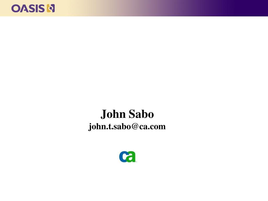 John Sabo
