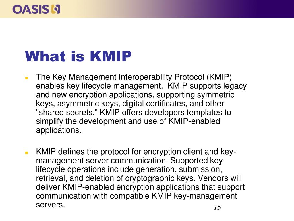 What is KMIP
