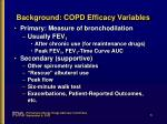 background copd efficacy variables