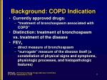 background copd indication4