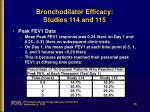 bronchodilator efficacy studies 114 and 11536