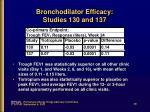 bronchodilator efficacy studies 130 and 137
