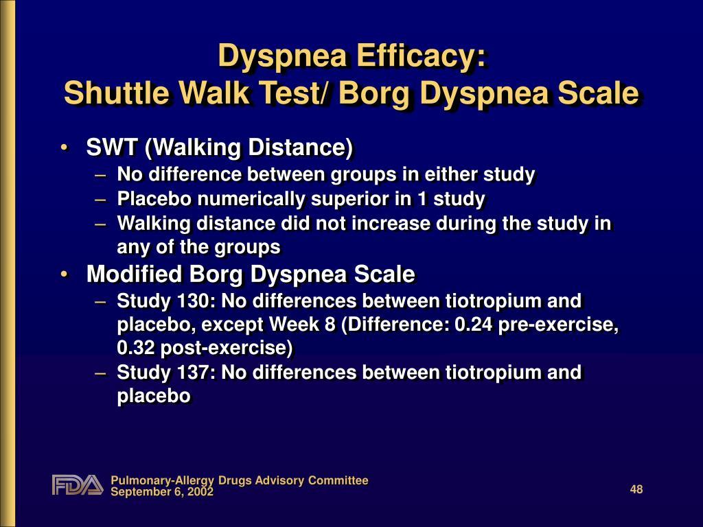 Dyspnea Efficacy: