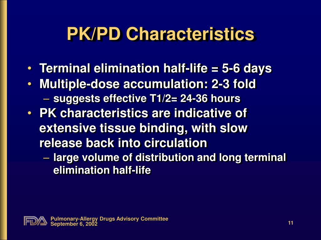 PK/PD Characteristics