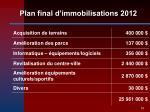 plan final d immobilisations 201219