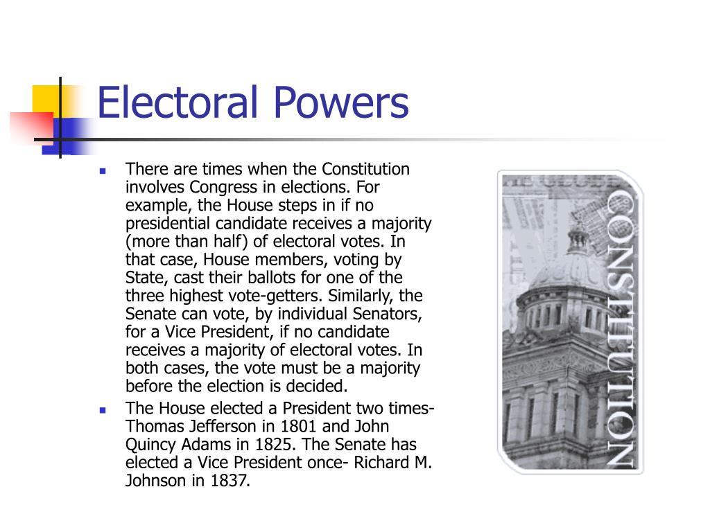 Electoral Powers