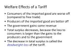 welfare effects of a tariff