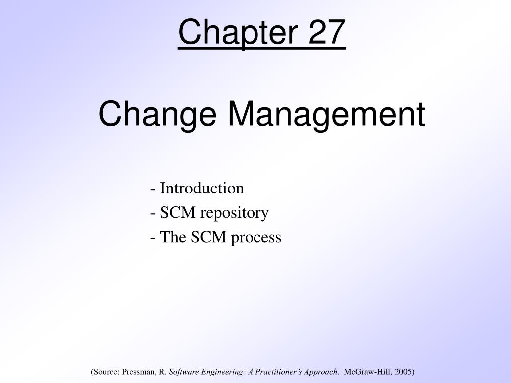 chapter 27 change management