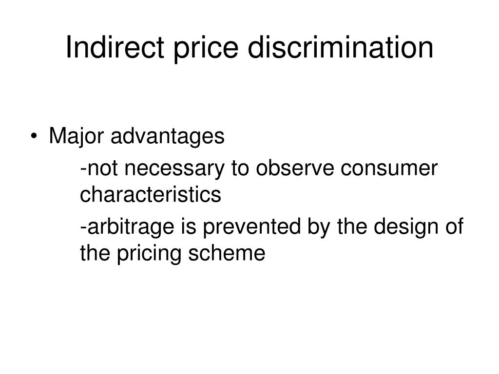 difference between direct and indirect discrimination Learn about the primary differences between direct and indirect distribution channels what is the difference between a direct and an indirect distribution channel.