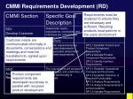 cmmi requirements development rd