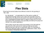 flex slots