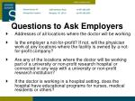 questions to ask employers