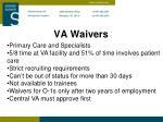 va waivers