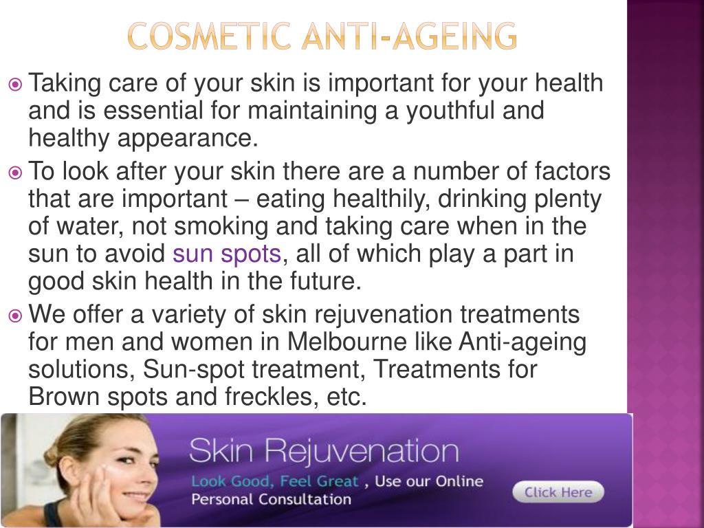 Cosmetic Anti-ageing