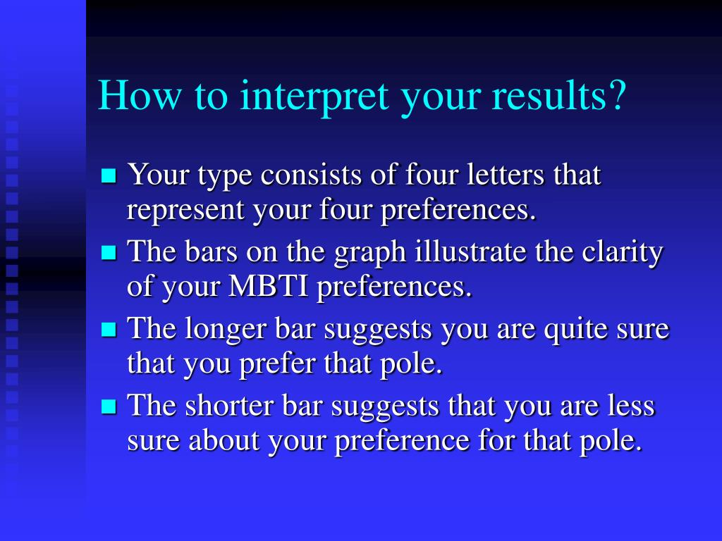 How to interpret your results?