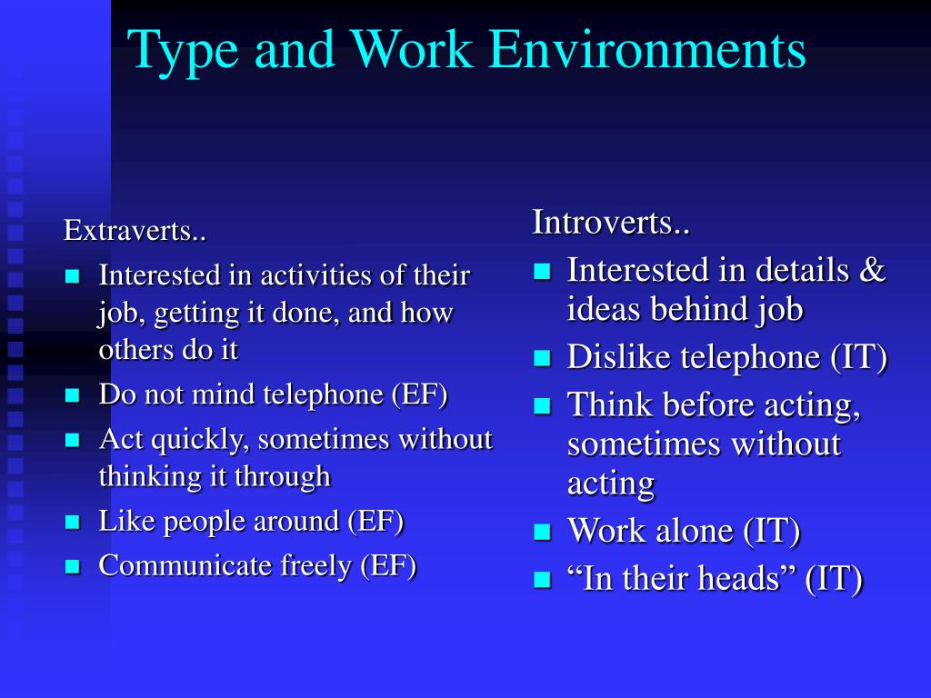 Extraverts..