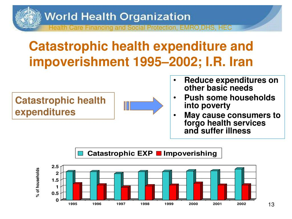 Catastrophic health expenditure and impoverishment 1995