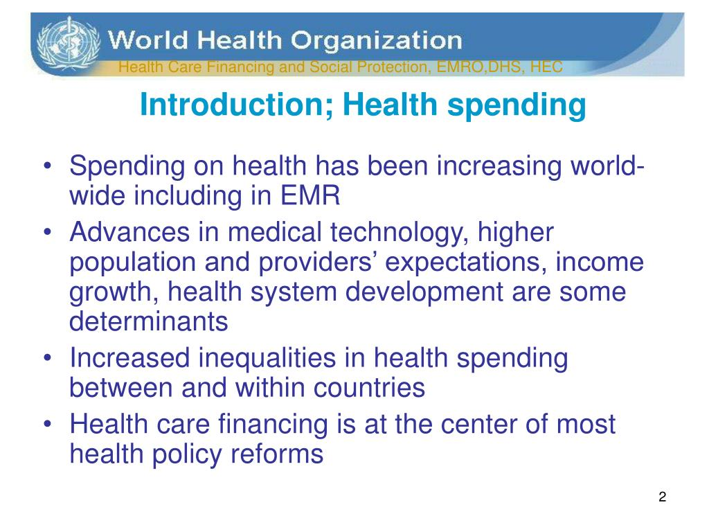Introduction; Health spending