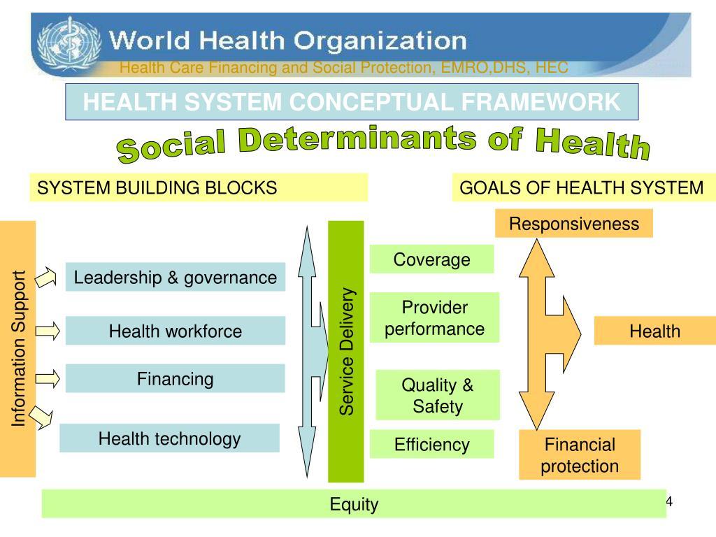 HEALTH SYSTEM CONCEPTUAL FRAMEWORK
