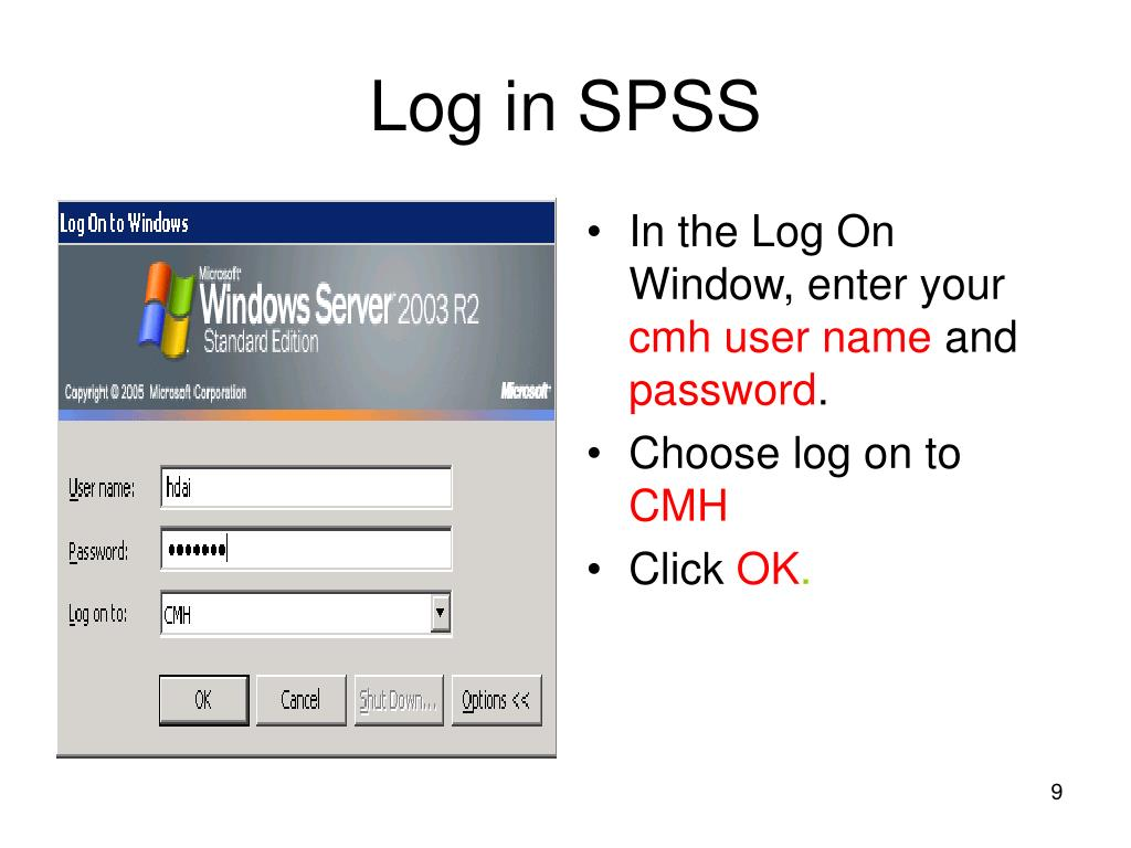 Log in SPSS