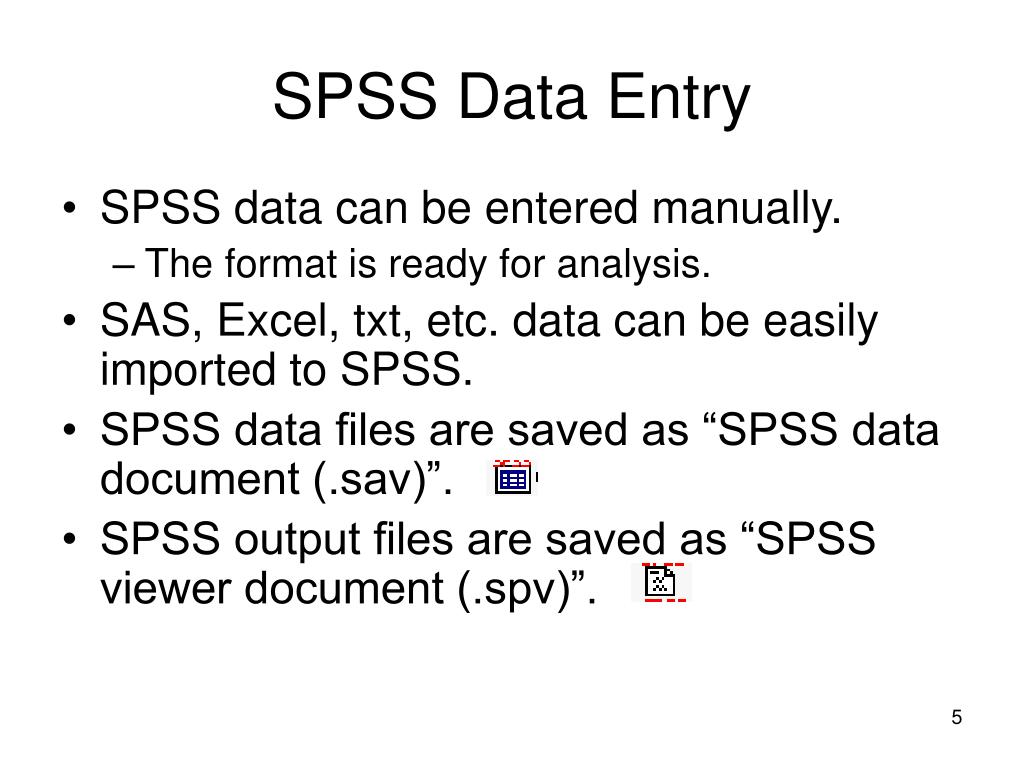 SPSS Data Entry