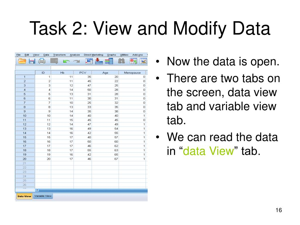 Task 2: View and Modify Data