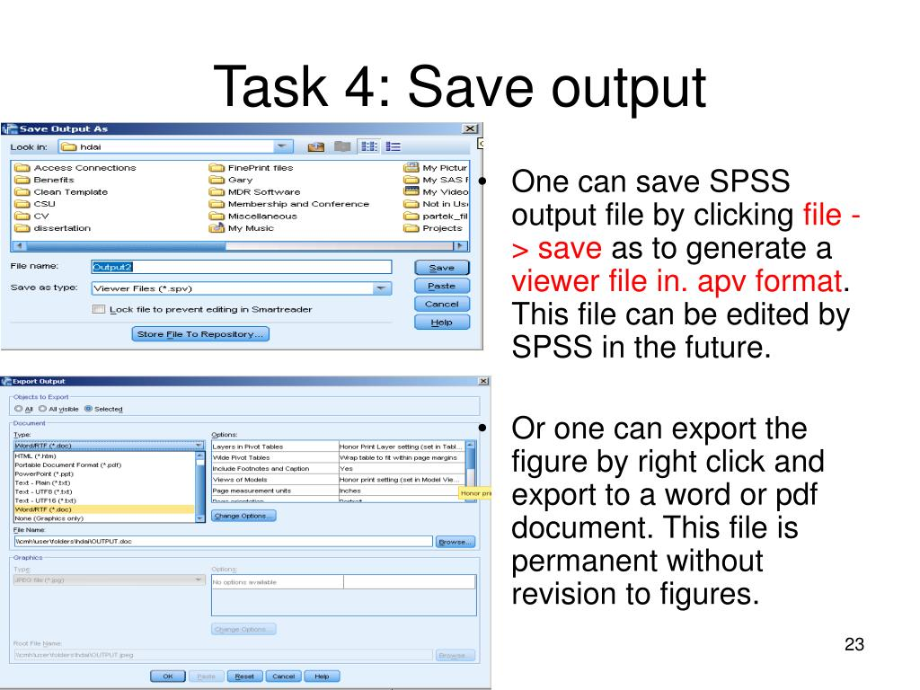 Task 4: Save output
