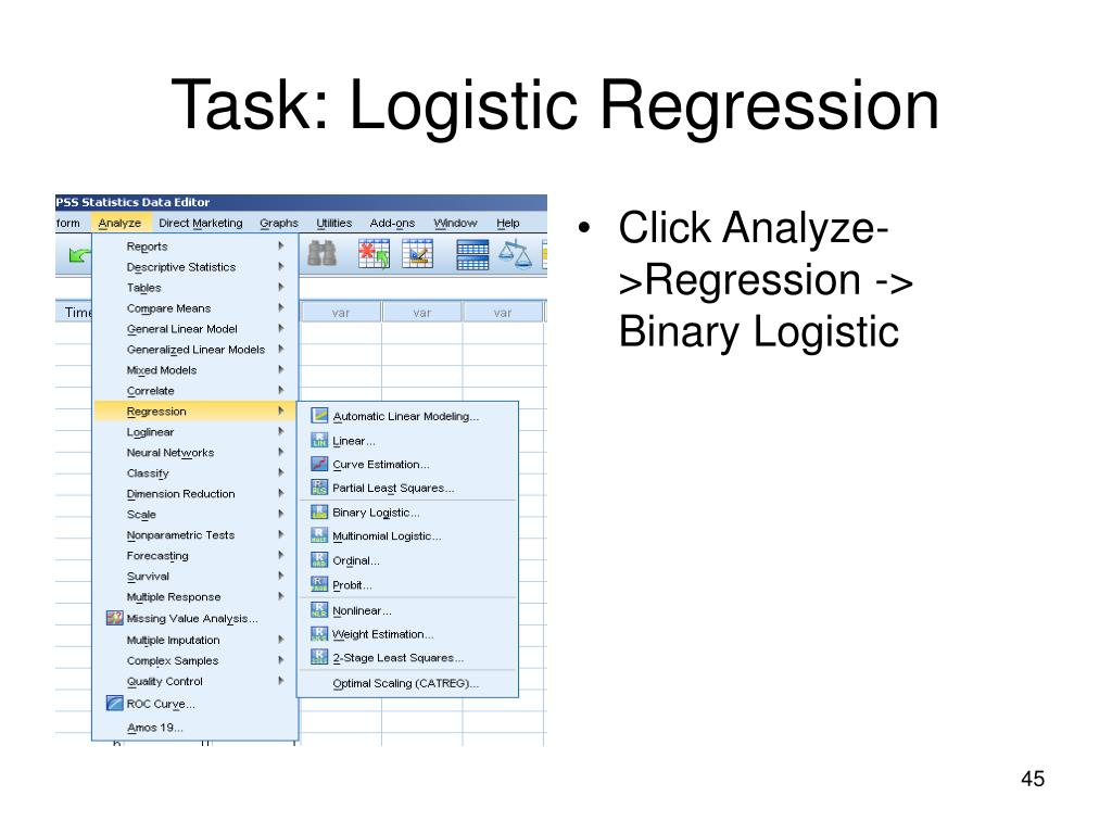 Task: Logistic Regression