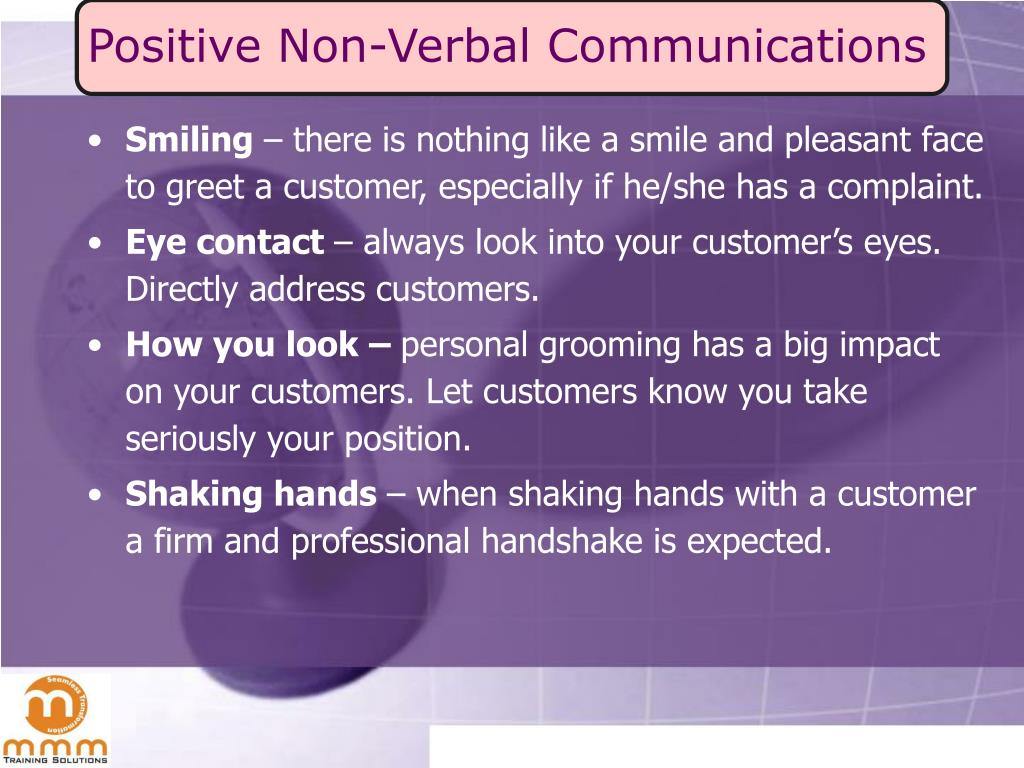 Positive Non-Verbal Communications