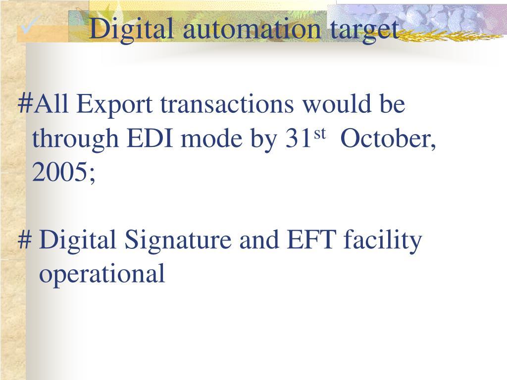 Digital automation target