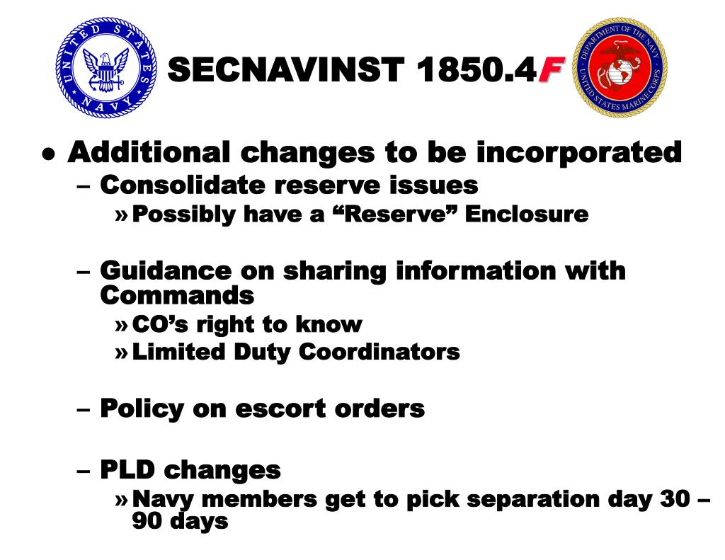 SECNAVINST 1850.4
