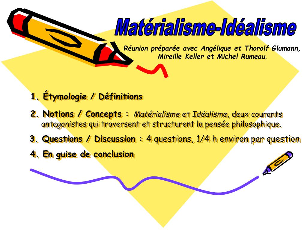 Matérialisme-Idéalisme
