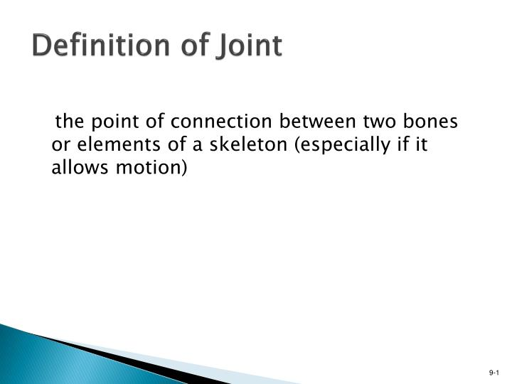Definition of joint