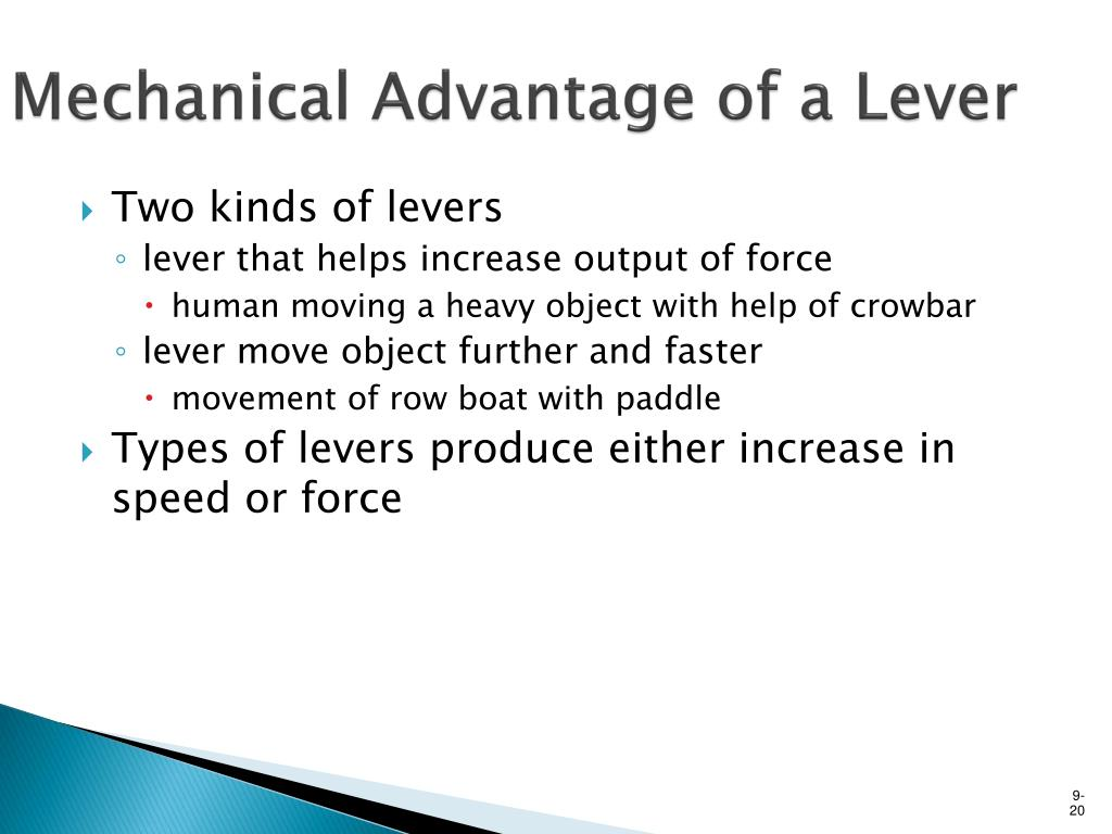 Mechanical Advantage of a Lever