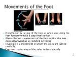 movements of the foot