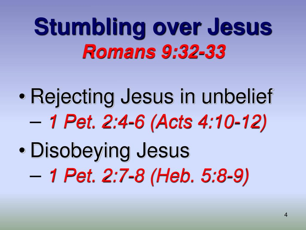 Stumbling over Jesus