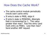 how does the cache work23