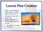 lesson plan creation