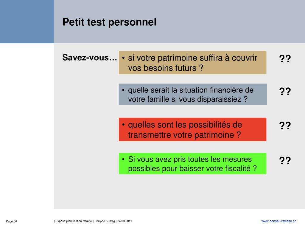 Petit test personnel