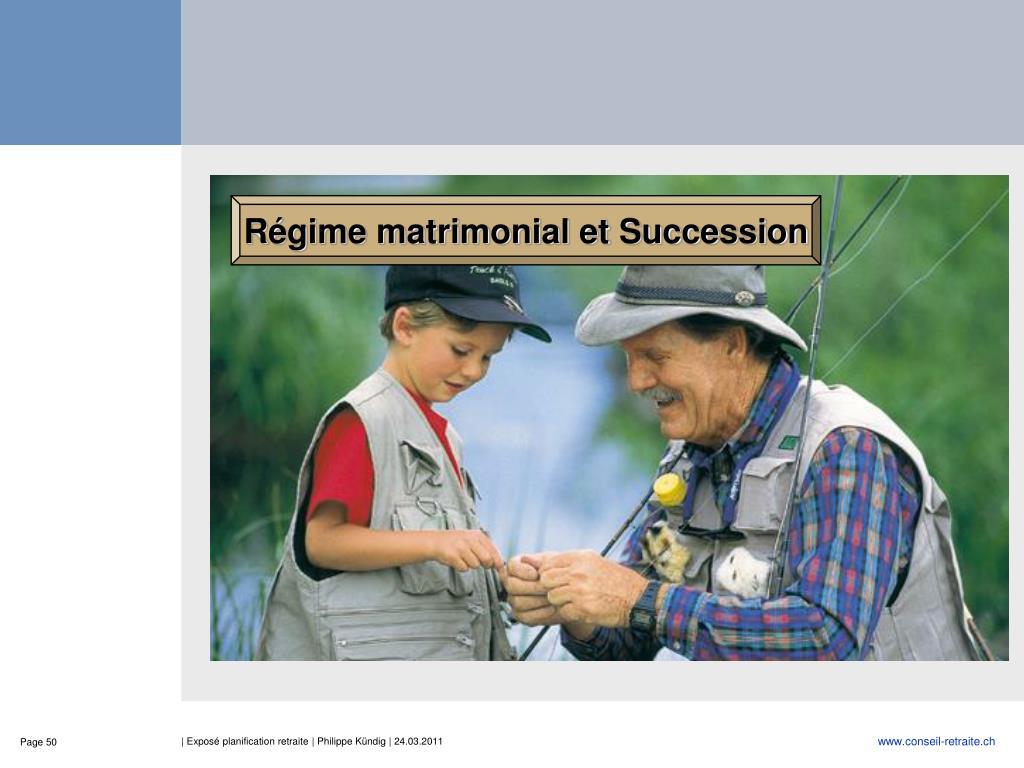 Régime matrimonial et Succession