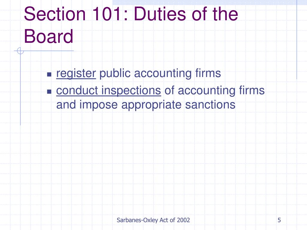sox act of 2002 Why was the sarbanes-oxley act of 2002 enacted why it is so popular with accountants and lawyers why it is so unpopular with entrepreneurs, investors and company management.
