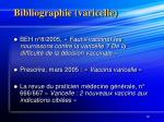 bibliographie varicelle