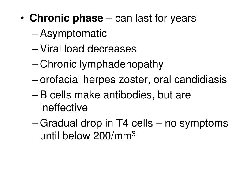 Chronic phase