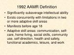 1992 aamr definition