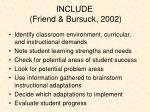 include friend bursuck 2002