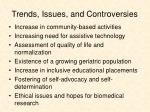 trends issues and controversies
